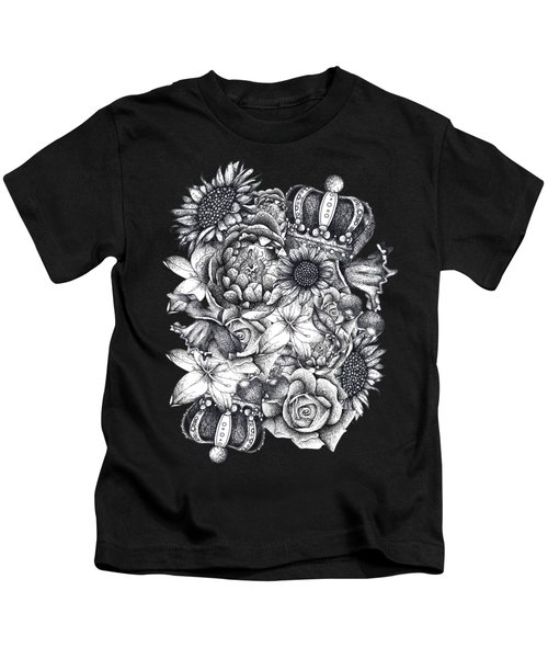 Royal Flowers Kids T-Shirt