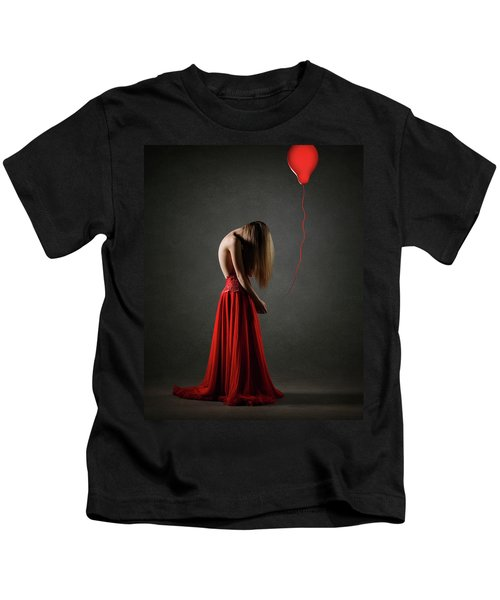 Sad Woman In Red Kids T-Shirt