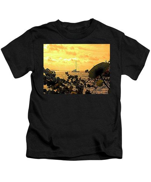 Sail The Manatee River Kids T-Shirt