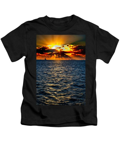 Sailboat Sunburst Kids T-Shirt