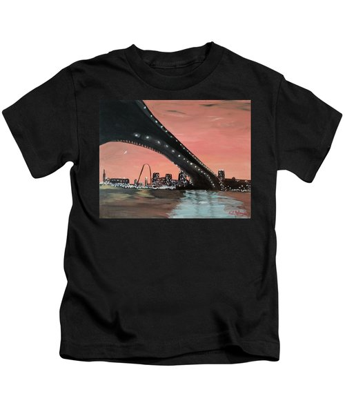 Saint Louis Sunset Skyline Kids T-Shirt