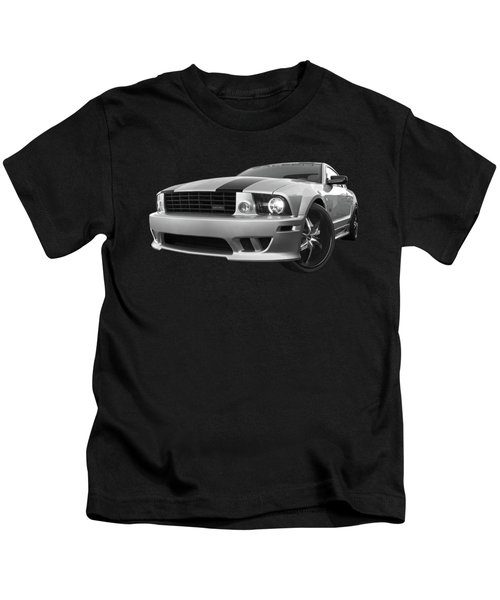 Saleen Mustang In Black And White Kids T-Shirt