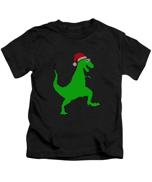 Santasaurus Ugly Christmas Sweater Kids T-Shirt