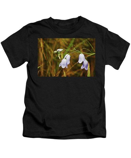 Scotland. Loch Rannoch. Harebells In The Grass. Kids T-Shirt
