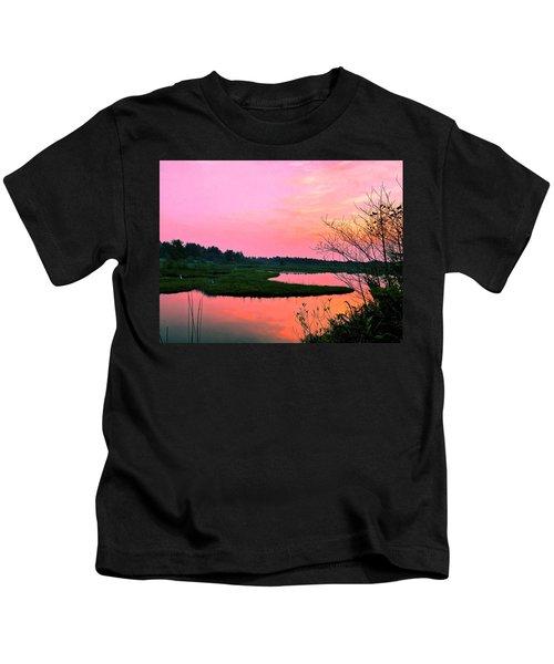 Sitka Sedge Sunset Kids T-Shirt