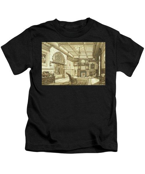Sitting Room Of Bardwold, Merion Pa Kids T-Shirt