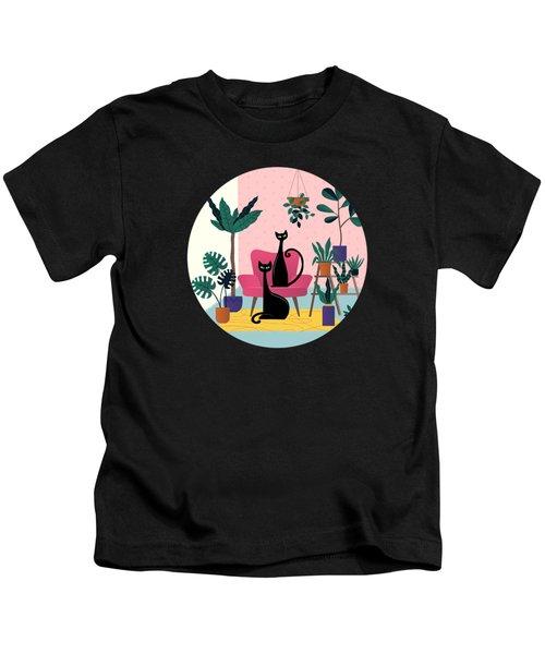 Sleek Black Cats Rule In This Urban Jungle Kids T-Shirt