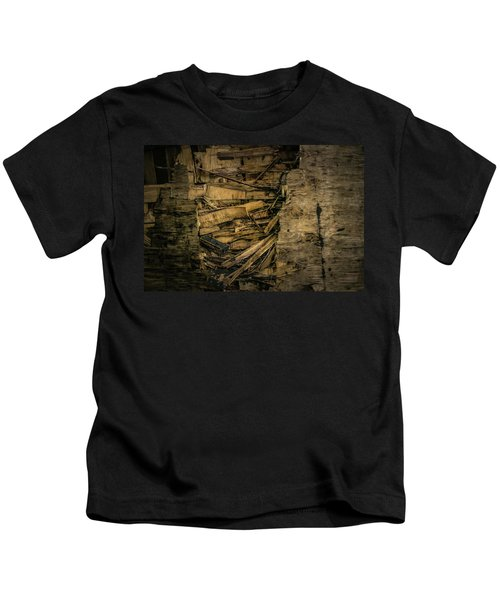 Smashed Wooden Wall Kids T-Shirt