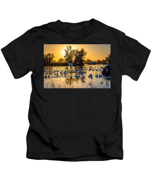 Snow Geese Kids T-Shirt