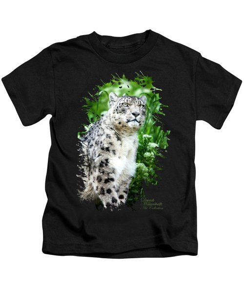 Snow Leopard, Leopard Art, Animal Decor, Nursery Decor, Game Room Decor,  Kids T-Shirt