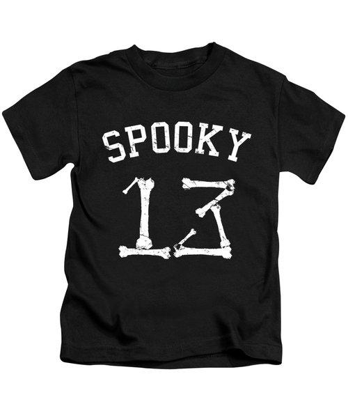 Spooky 13 Halloween Jersey Kids T-Shirt