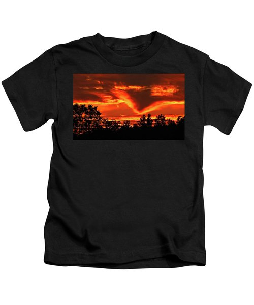 Springport, Michigan Sunset 4289 Kids T-Shirt