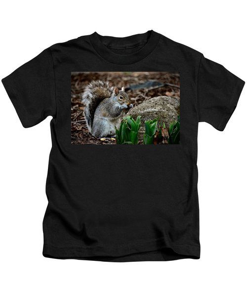 Squirrel And His Dinner Kids T-Shirt