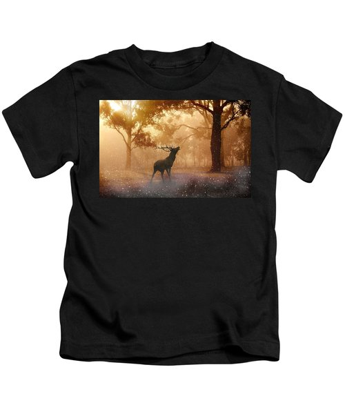 Stag In The Forest Kids T-Shirt