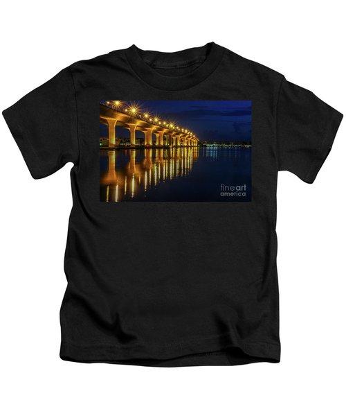 Starburst Bridge Reflection Kids T-Shirt