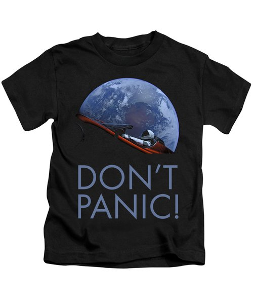 Starman Don't Panic In Orbit Kids T-Shirt