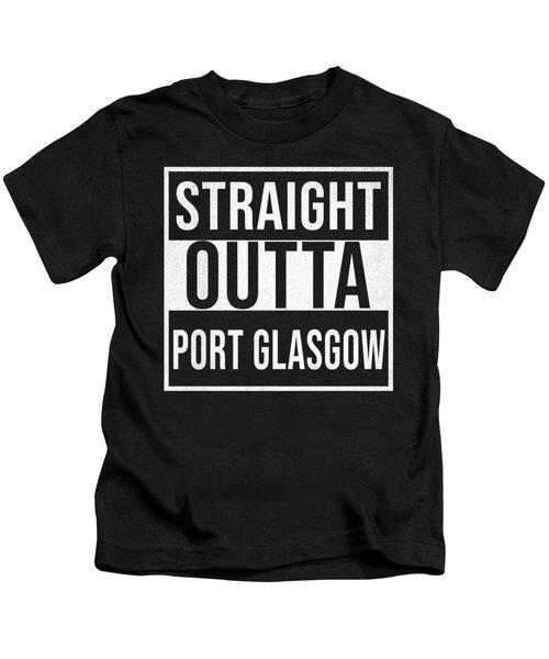 Straight Outta Port Glasgow Kids T-Shirt