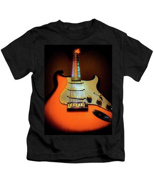 Stratocaster Triburst Glow Neck Series Kids T-Shirt