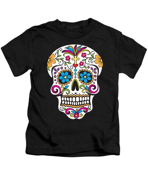 Sugar Skull Day Of The Dead Kids T-Shirt