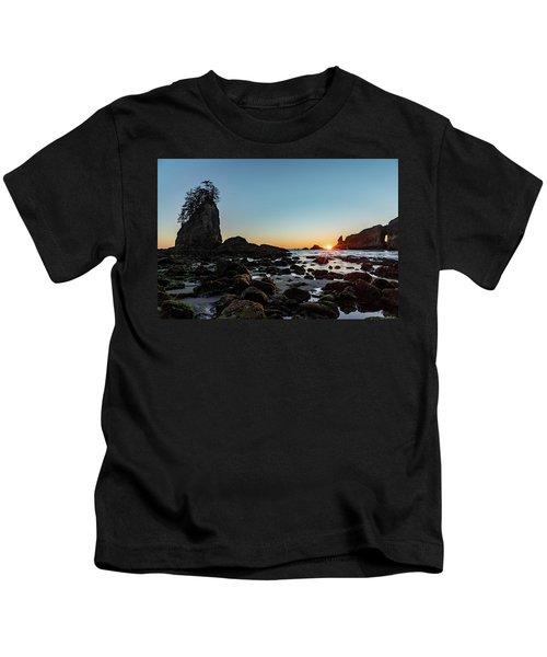 Sunburst At The Beach Kids T-Shirt