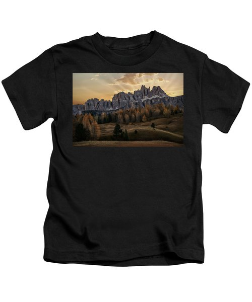 Sunrise In The Dolomites Kids T-Shirt