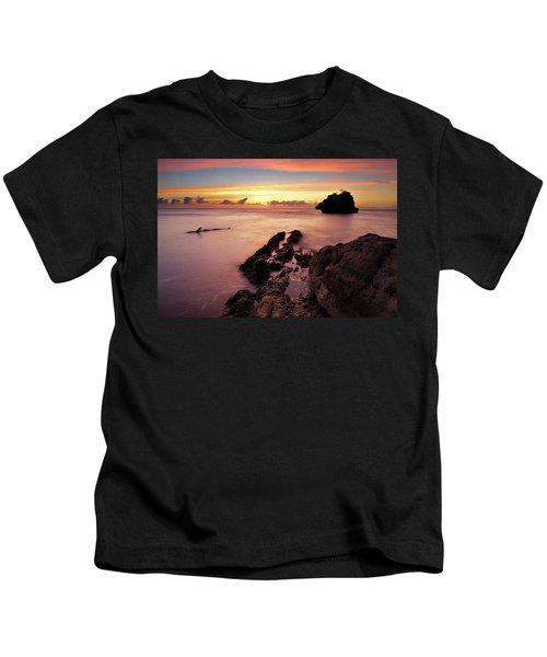 Sunset At Columbus Bay Kids T-Shirt