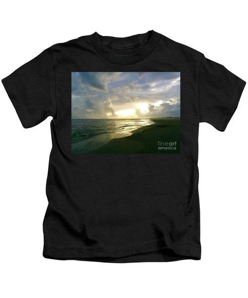 Sunset At The Beach Kids T-Shirt