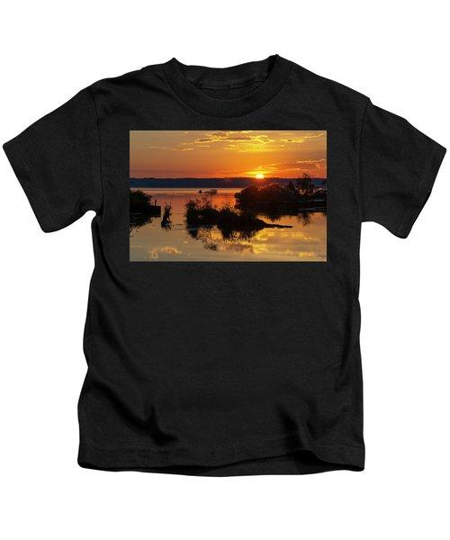 Sunset, Mallows Bay Kids T-Shirt