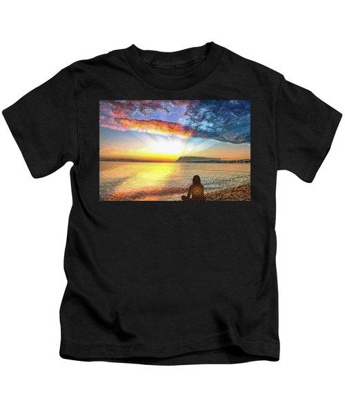 Sunset Meditation Kids T-Shirt