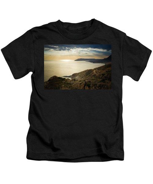 Sunset Near Tainaron Cape Kids T-Shirt
