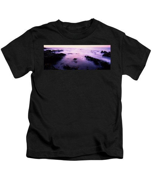 Sunset Over The Sea, 17-mile Drive Kids T-Shirt