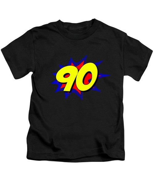 Superhero 90 Years Old Birthday Kids T-Shirt