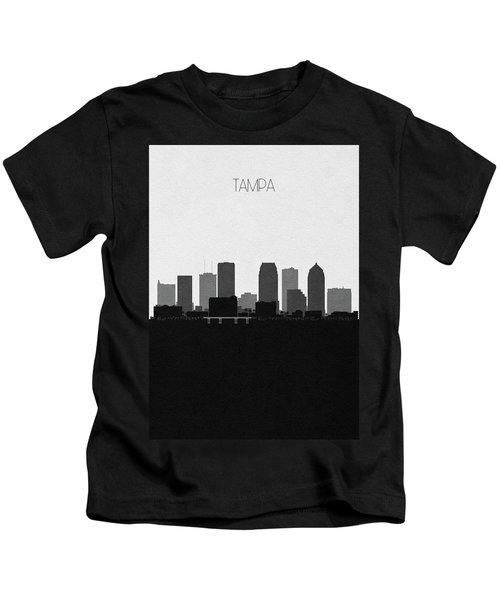 Tampa Cityscape Art Kids T-Shirt