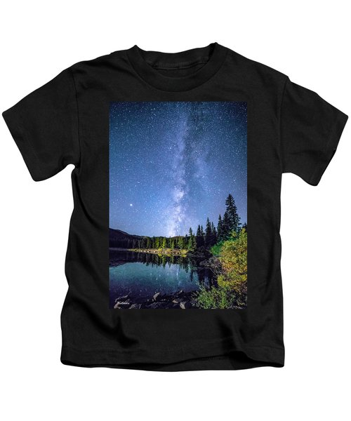 The Milky Way Over Echo Lake Kids T-Shirt