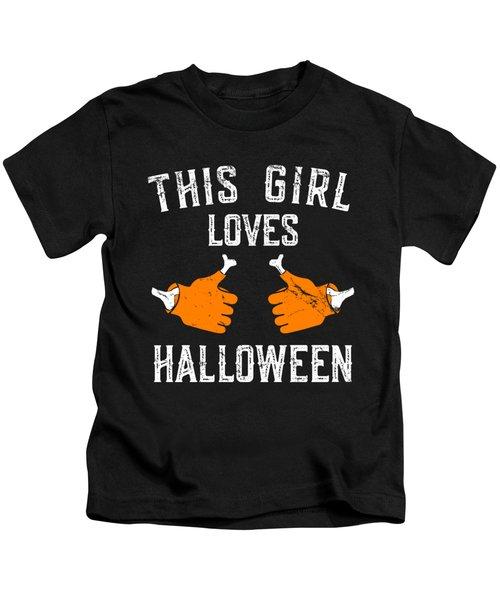 This Girl Loves Halloween Kids T-Shirt