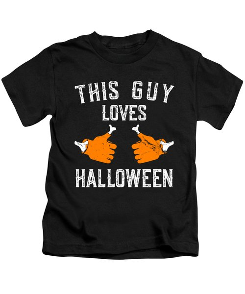 This Guy Loves Halloween Kids T-Shirt