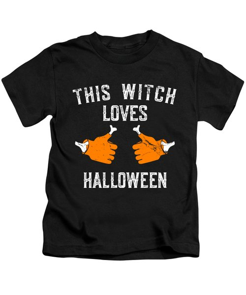 This Witch Loves Halloween Kids T-Shirt