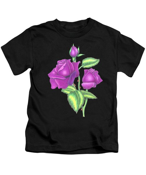 Three Purple Roses Kids T-Shirt