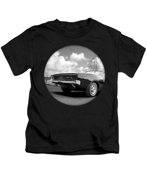 Time Portal - '68 Dodge Charger Kids T-Shirt