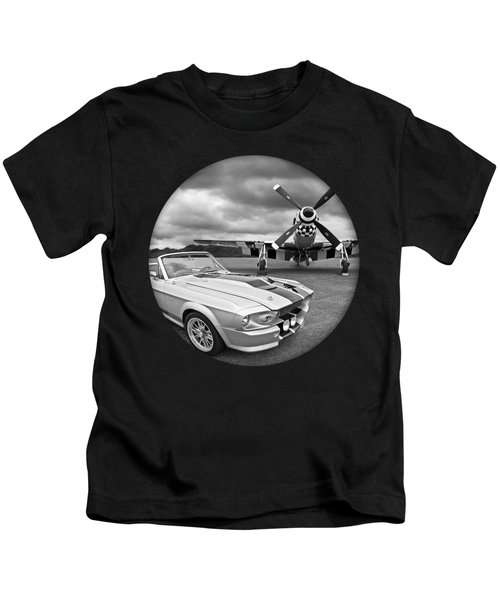 Time Portal - Mustang With P-51 Kids T-Shirt
