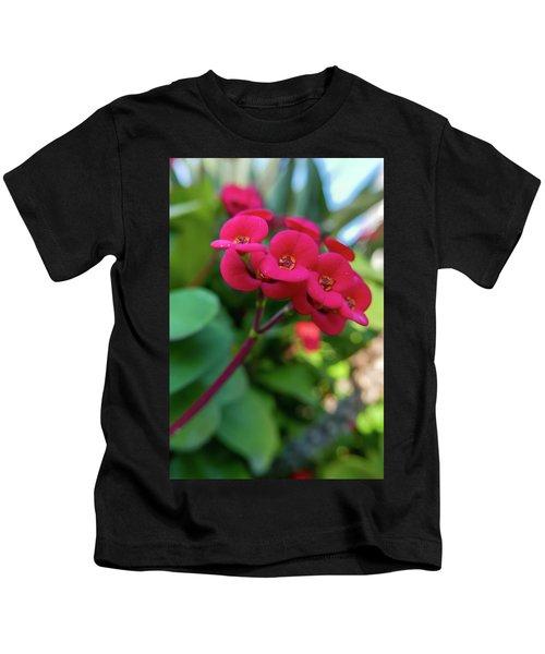 Tiny Red Flowers Kids T-Shirt