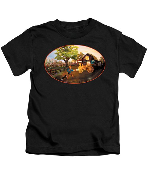 Tractor And Barn Kids T-Shirt