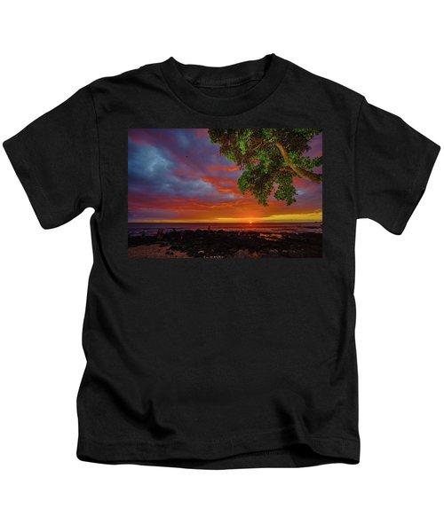 Tree  Sea And Sun Kids T-Shirt