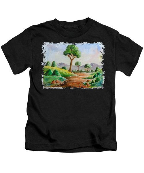 Trees And Flowers Kids T-Shirt
