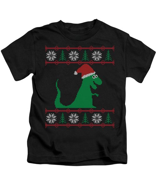 Trex Santa Ugly Christmas Sweater Kids T-Shirt