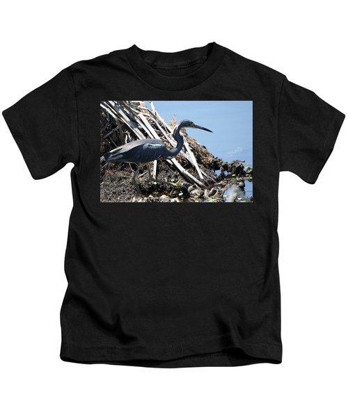 Tri-colored Heron 40312 Kids T-Shirt