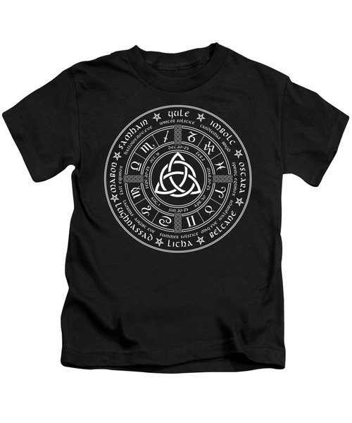 Triquetra Pagan Wheel Of The Year Kids T-Shirt