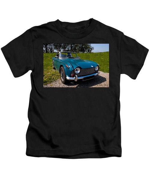 Triumph Tr5 Blue Kids T-Shirt