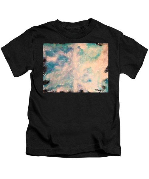 Turquoise Cosmic Cloud Kids T-Shirt
