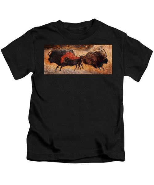 Two Bisons Running Kids T-Shirt